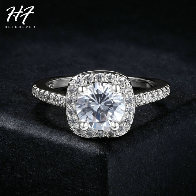 Sliver Color Exquisite Bijoux Fashion Square Wedding & Engagement Ring Made With AAA+ CZ Crystal Jewelry For Women R531