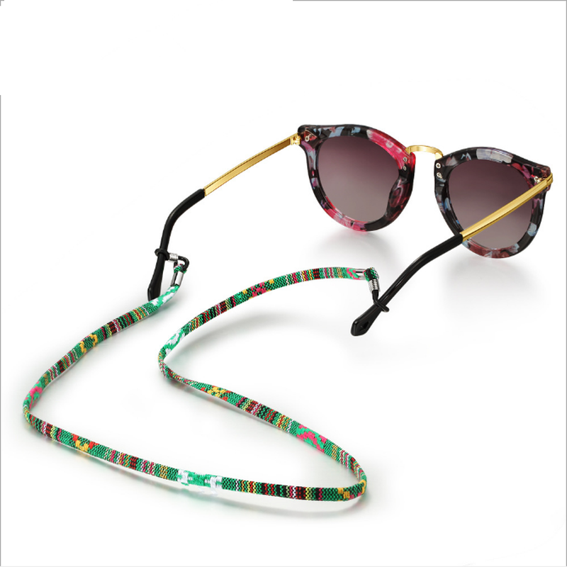 1Pc 6 Colors New Leather Eyeglass Cord Adjustable End Glasses Holder Chain Colorful Leather Glasses Neck Strap String Rope Band