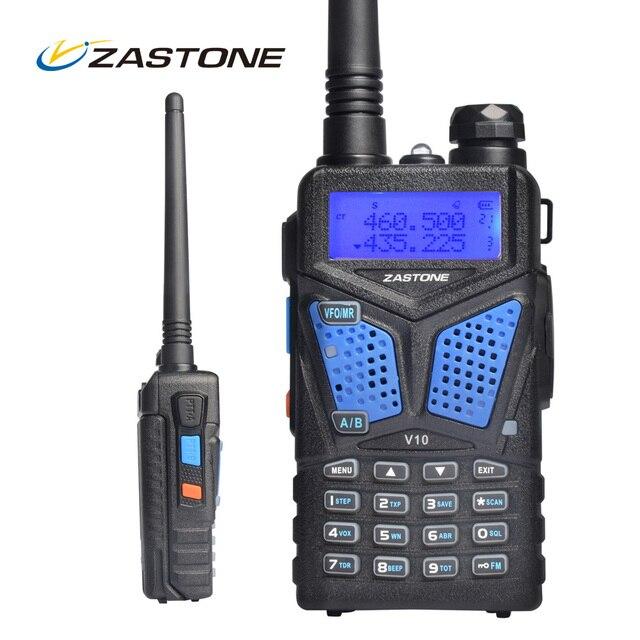 Рация Zastone Walkie Talkie V10 Dual Band УКВ UHF Ручной Радио Comunicador HF Transceive Двухстороннее Радио Woki токи