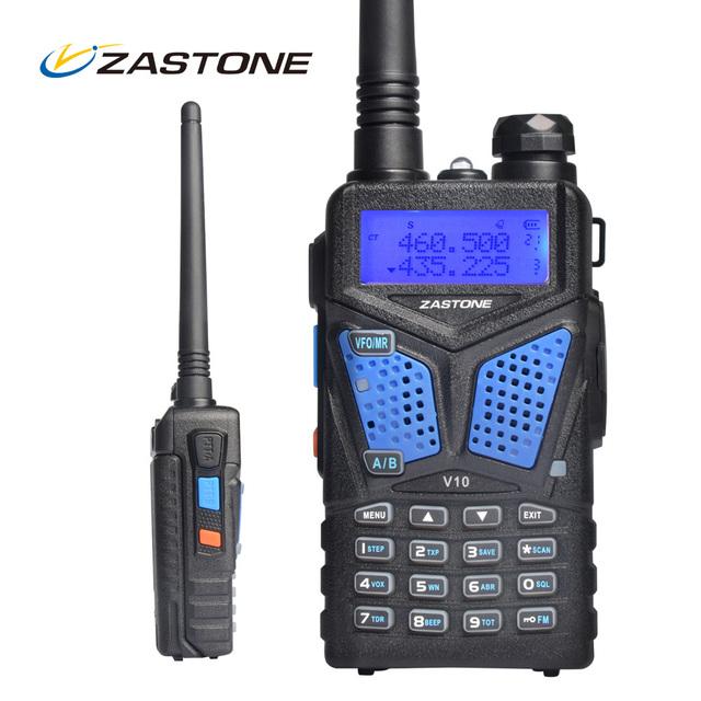 Aparelho de Rádio portátil Walkie Talkie Zastone V10 Dual Band VHF Comunicador de Rádio Portátil UHF HF Transceptor de Rádio Em Dois Sentidos Woki Toki