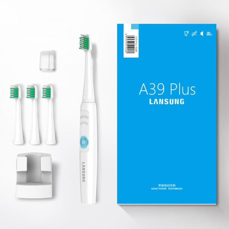 Sonido eléctrico cepillo de dientes con 4 pcs blanco ultrasonidos cabeza de  cepillo de dientes eléctrico cepillo de dientes recargable inalámbrico en  ... 6300c78d7334