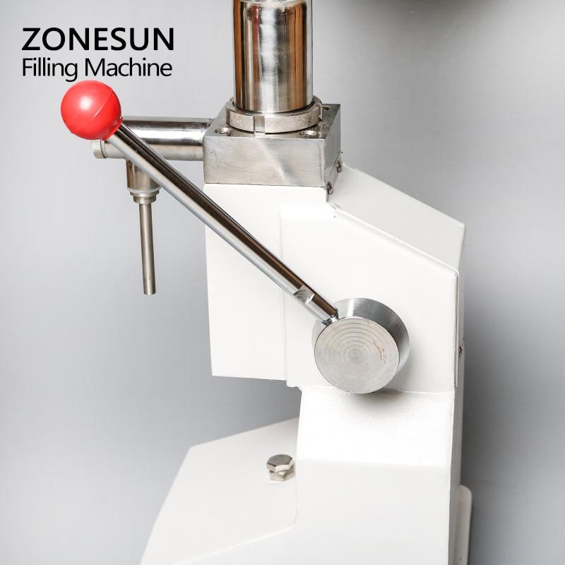 Máquina Manual de llenado de alimentos ZONESUN, máquina de presión de la mano, crema de Arequipe, equipo de envasado de Pasta Líquida de miel, relleno de zumo de champú - 4