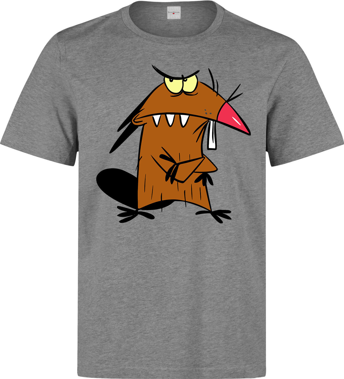 Angry Beavers Daggett Dag Cartoon Art men s woman s available grey t shirt Cartoon t
