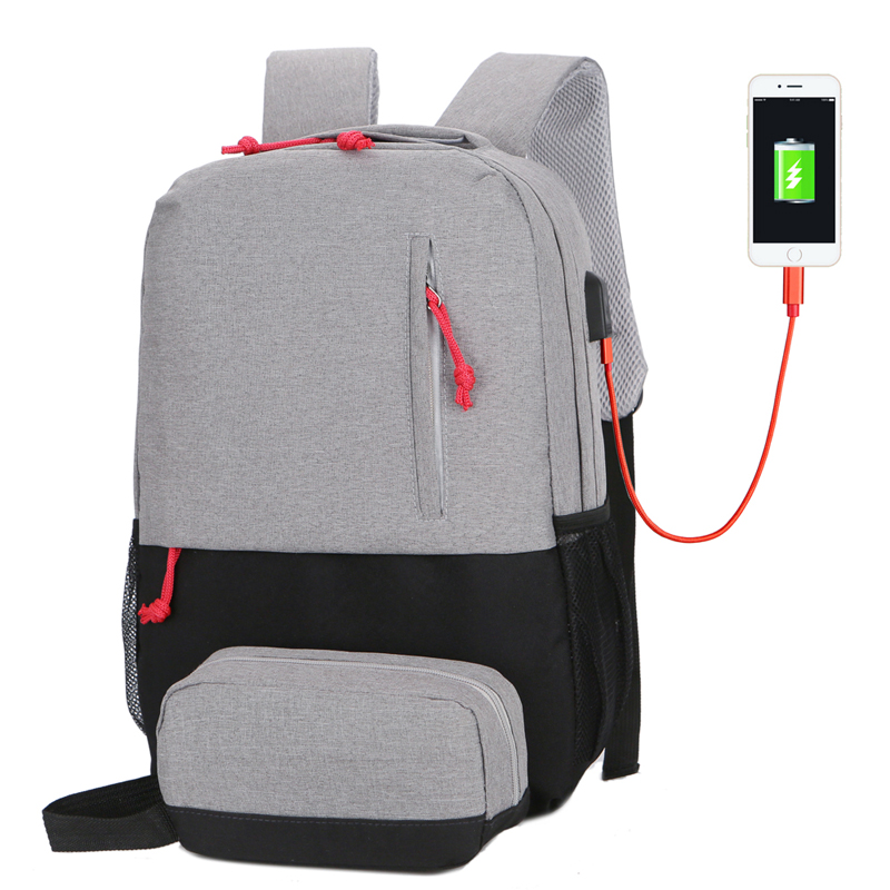 <font><b>15</b></font>-inch <font><b>Laptop</b></font> <font><b>Backpack</b></font> for Men and <font><b>Women</b></font> Fashion Travel School Bag 2019 Anti-Theft USB Charging image