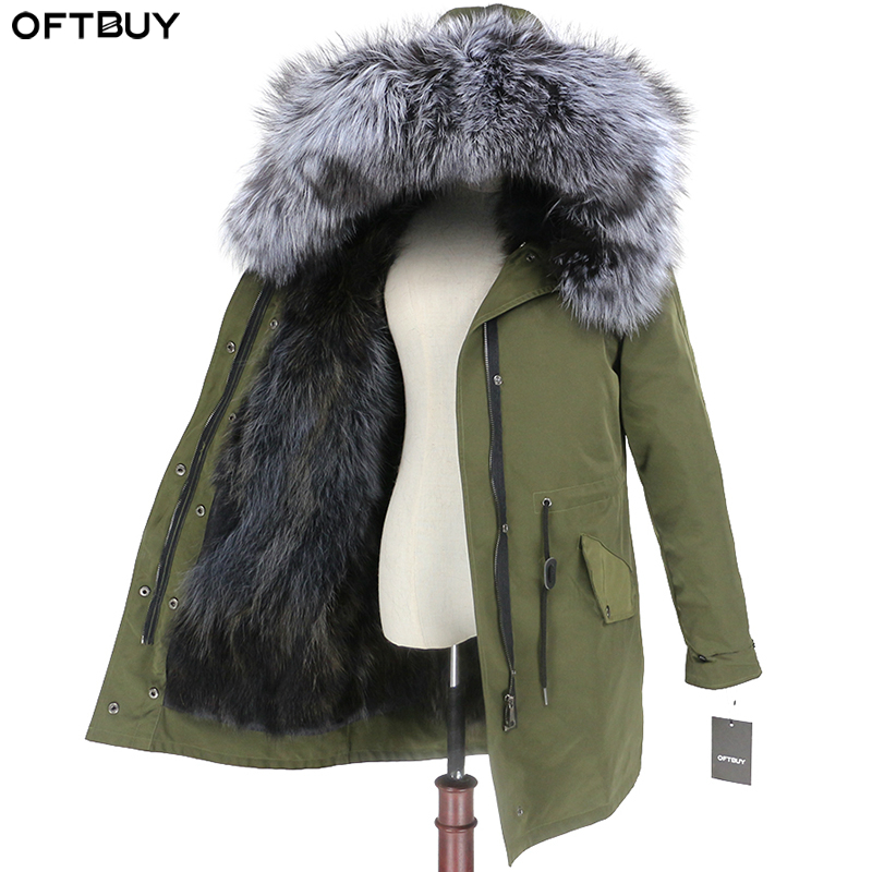 OFTBUY 2019 Real Fur Coat Winter Jacket Women Natural Fox Fur Waterproof Parka Detachable Outerwear Thick Warm Streetwear Brand