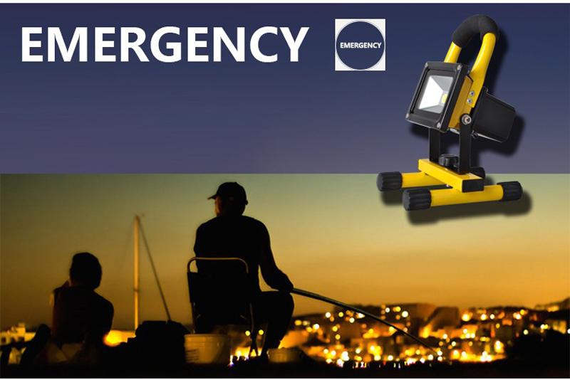 Solar LED Spotlight Outdoor Floodlights 10W IP65 Waterproof Portable Solar Powered Refletor Led Rechargeable Camping Flood light (29)