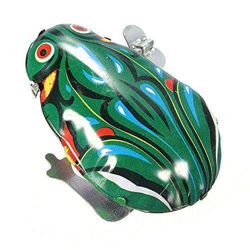 3 шт. * Мода Винтаж ветер до животных лягушка прыгает Ретро Классический Заводной Олово игрушка в подарок