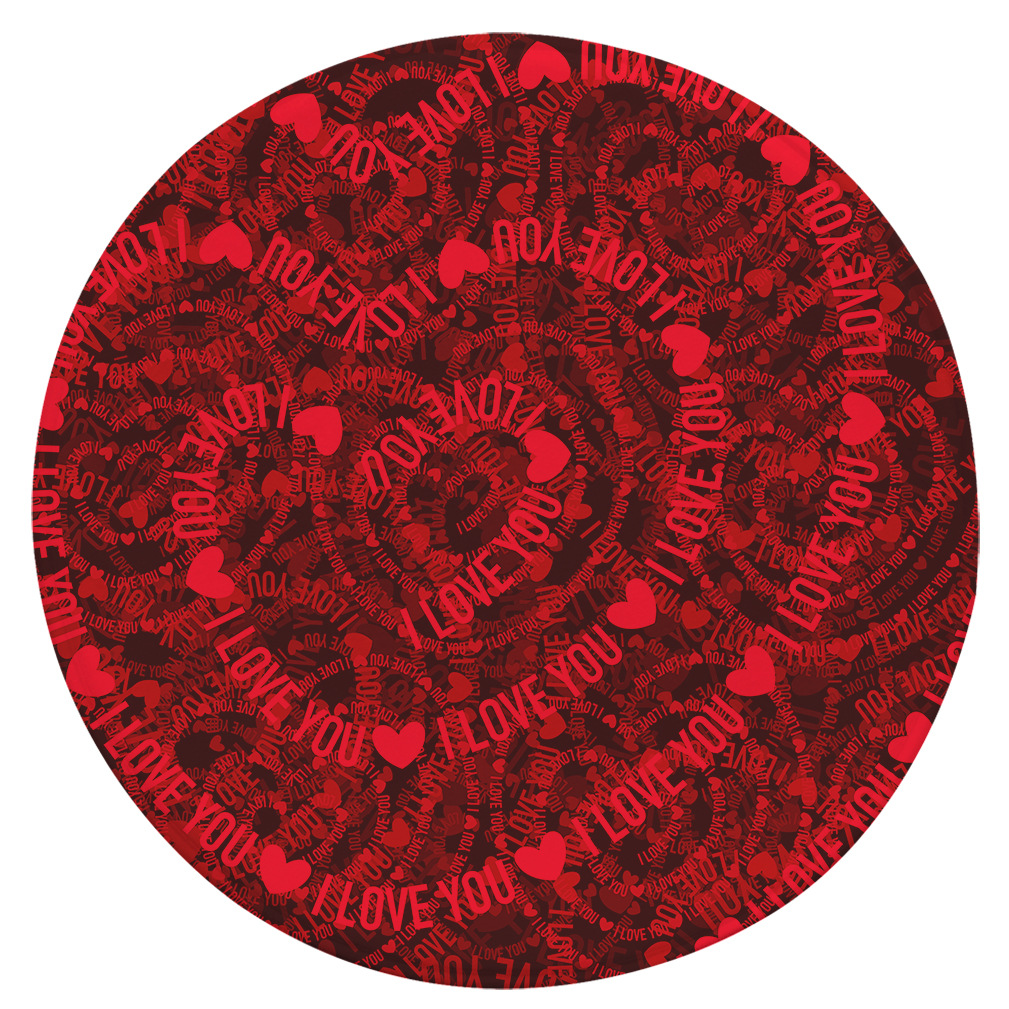 Chinese Festive Round Carpet Valentine's Day Rug Decoration Non-slip Absorbent Tea Table Mat Super Soft Flannel Floor Mat