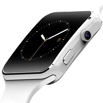 Reloj inteligente X6 compatible con tarjeta SIM TF Cámara h reloj inteligente Bluetooth Dial/con pantalla táctil de cámara para iPhone Xiaomi Android IOS