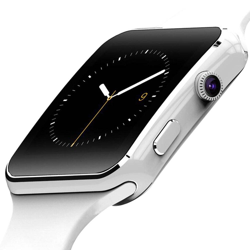 X6 Apoio Relógio Inteligente SIM Card TF h Câmera Smartwatch Bluetooth Dial/com Câmera da Tela de Toque Para o iphone Xiaomi IOS Android