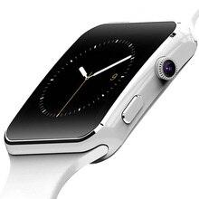 X6 Смарт-часы Поддержка sim-карта TF h Камера Smartwatch Bluetooth циферблат/с Камера Сенсорный экран для iPhone Xiaomi Android IOS