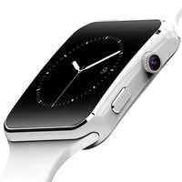 X6 montre intelligente Support SIM TF carte h caméra Smartwatch Bluetooth cadran/avec caméra écran tactile pour iPhone Xiaomi Android IOS
