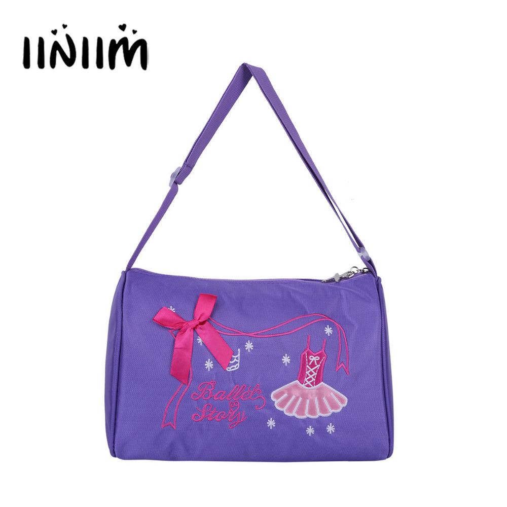 Fashion Kids Girls Ballerina Ballet Dance Bag Hand Bag Shoulder Bag Duffel Bag with Zipper Tutu Dance Backpack for Teen Children