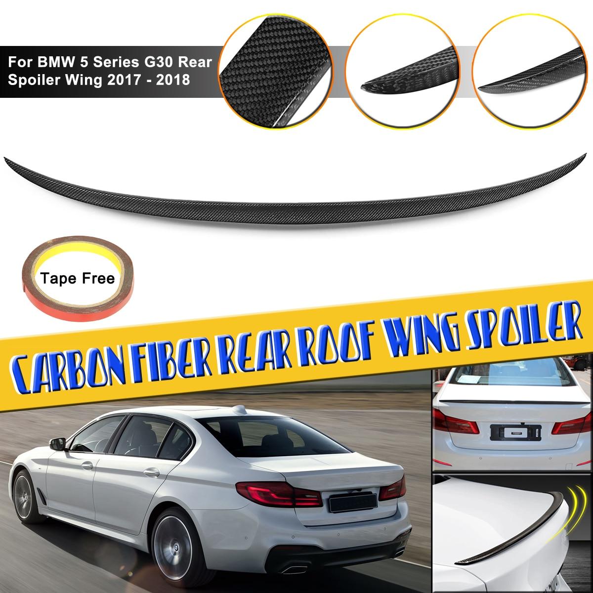 5 série G30 Plein Real Fibre De Carbone Toit Wing Spoiler Pour BMW 5 Série G30 Aileron Arrière Aile 2017 -présent