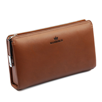 Business Genuine leather men day clutch bag, gentlemen fashion clutch bag, designer large Cowhide leather wallet