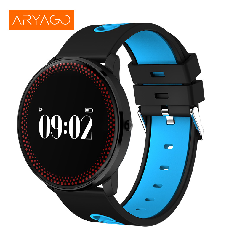 Smart Band CF007 Blood Pressure Watch with Round Touch Screen Heart Rate Fitness Tracker Smart Bracelet