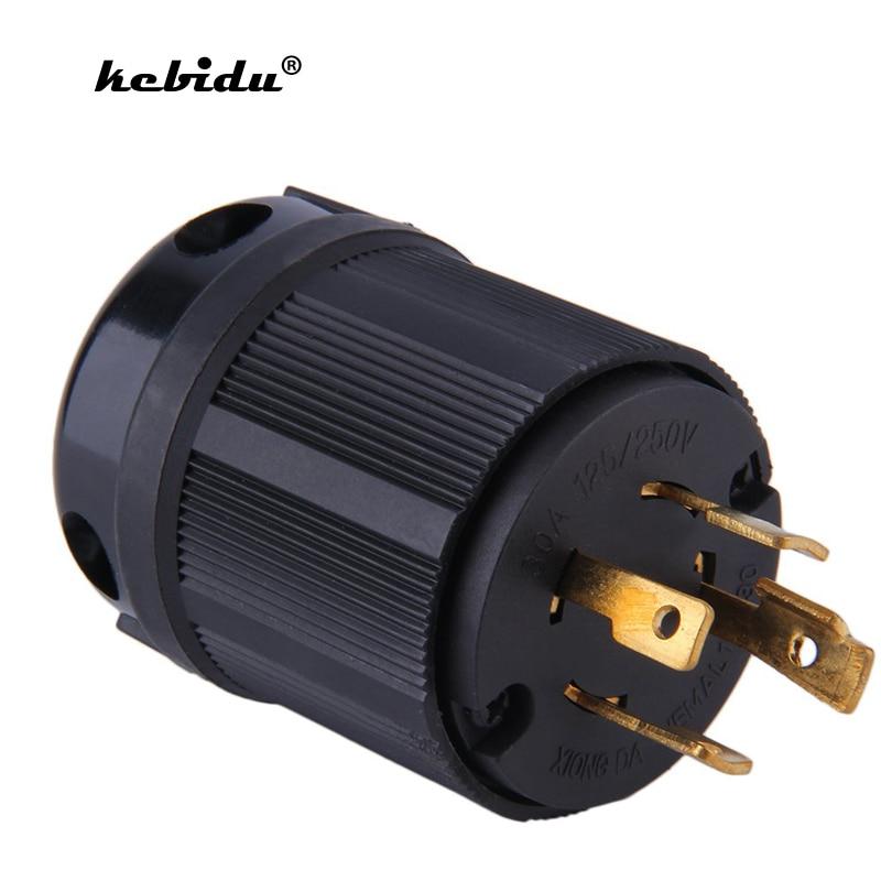 Kebidu Us Plug Nema L14 30p 30a 125v 250v Heavy Duty