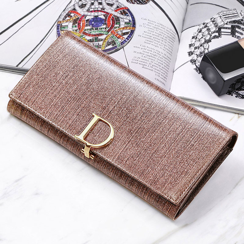 Hot Selling! Fashion Genuine Leather Wallet Women Clutch bag Brand Luxury Long Wallets Coin Purse Card Holder Cowhide Wallet New brand handmade genuine vegetable tanned leather cowhide men wowen long wallet wallets purse card holder clutch bag coin pocket page 1
