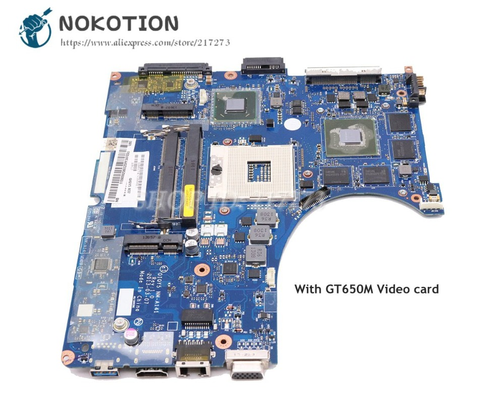 NOKOTION For Lenovo ideapad Y400 Laptop Motherboard 14 Inch QIQY5 NM-A141 Main Board HM76 DDR3 GT650M Video cardNOKOTION For Lenovo ideapad Y400 Laptop Motherboard 14 Inch QIQY5 NM-A141 Main Board HM76 DDR3 GT650M Video card