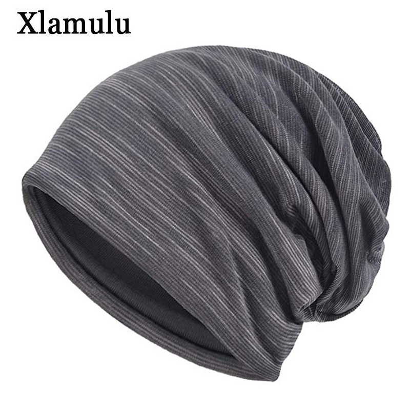 Xlamulu Skullies Beanies Hat Women Winter Hats For Men Caps Male Soft Bonnet Mask Men's Beanie Hat Balaclava Female Cap  Gorros