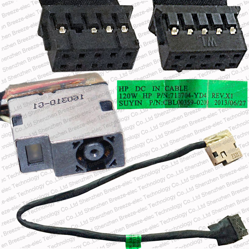 5PCS / LOT Izvorni novi laptop DC Power Jack kabelski kabel utičnica za HP Envy 17-j serije 713704-YD4 CBL00359-0200