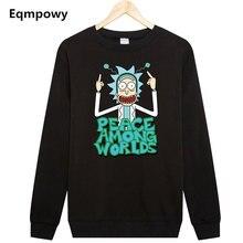 Eqmpowy 2017 harajuku Rick And Morty printed hoodie Sweatshirt men women tracksuit Mens Hoodies Sweatshirts Plus Size XXL