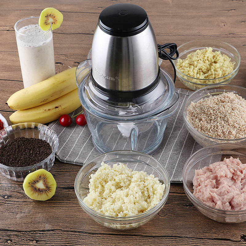 Stainless Steel Meat Grinder Chopper Electric Mincing Machine High-quality Household mince meat machine Grinder Food Processor cheappest small household meat mincing machine wholesale