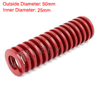 TM 50mm OD 25mm ID 300mm 350mm 400mm 450mm 500mm Length Red Middle Load 65Mn Metal Spiral Stamping Compression Mould Die Spring