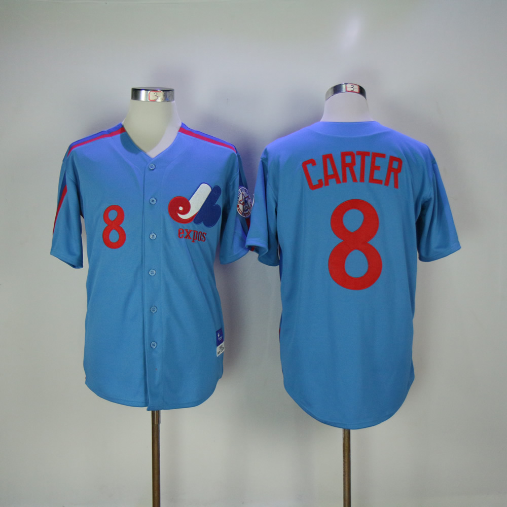 Mens Retro Expos Gary Carter Stitched Name&Number Throwback Baseball Jersey Size M-3XL
