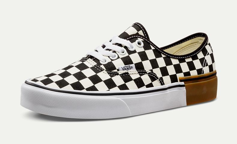 vans authentic checkerboard gum block