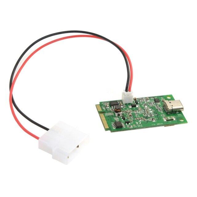 Mini PCI-Express 2.0 to Single Port USB-C USB 3.1 Type-C Gen 2 Card  ASM1142 Chipset for Laptop connect Mini PCI-E port to USB-C