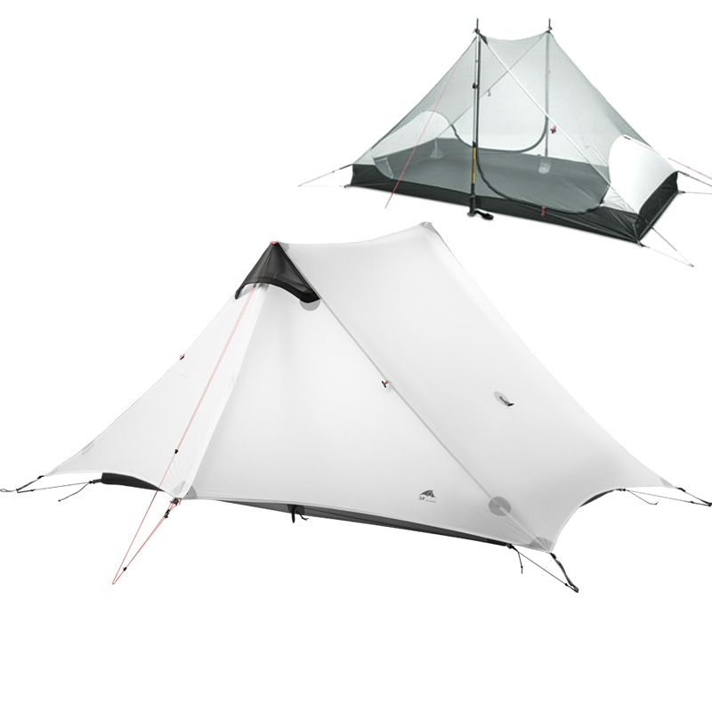 3F UL GEAR lanshan 1-2 People Oudoor Ultralight Camping Tent Professional 15D Nylon Silicon Coating Rodless Tent