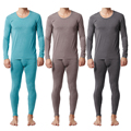 Pajamas For Men Knitted Bamboo Fiber Home Dress Plus Size Men Pajama Set