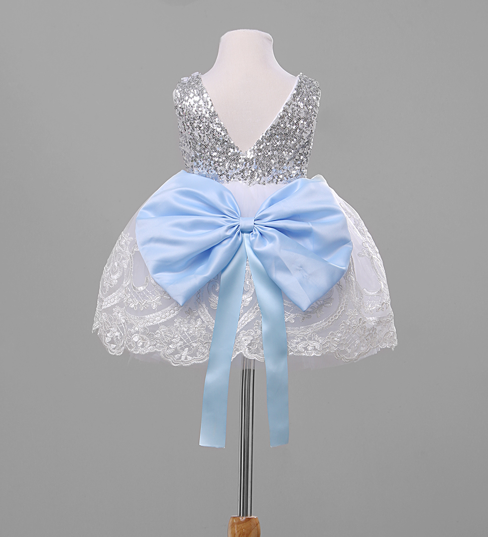 Flower Baby Kids Girl Sequins Bowknot Dress Party Gown Formal Bridesmaid Dresses