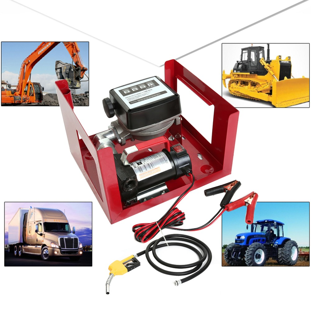 12V Fuel Meter Fuel Transfer Pump Kit Professional Durable Volt Wall Mounted for Diesel Adblue Transfer Fuel Pump Kit J28C30