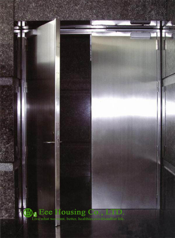 Double-leaf Stainless Steel Fire Rated Emergency Exit Door Manufactuer In China, Stainless Steel Fire Rated Emergency Exit Door