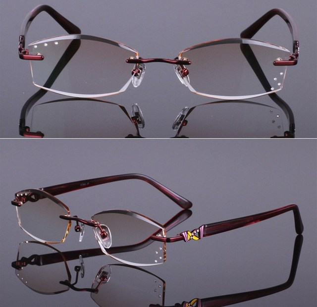 321dc34e9f eye glasses frames Diamond cutting edge woman of quality titanium spectacle eyeglasses  frames women decorations optical
