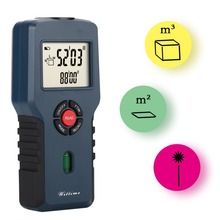 WT-1037 Professional Handheld Design Ultrasonic Measure Distance Meter Measurer Laser Pointer Range Finder sw p35 laser distance meter professional portable 35m handheld distance measurer golf rangefinder range finder
