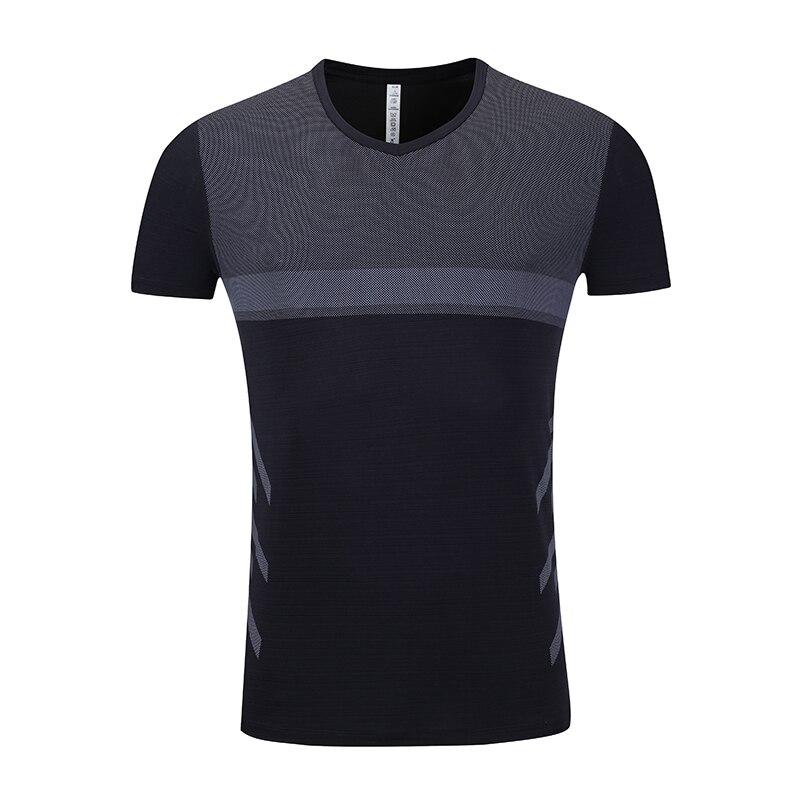 Camisa de Fitness Camisetas Respirável Curta Slim Camisa