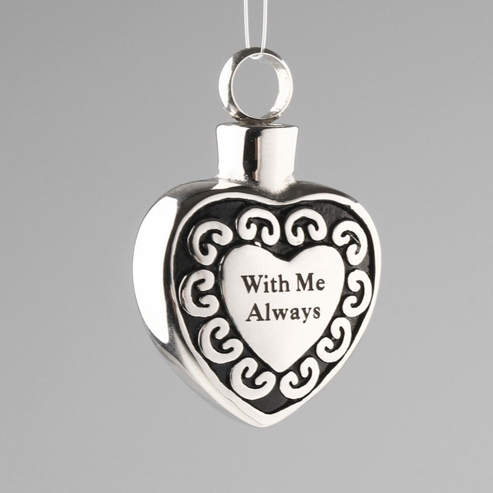 Heart Shape Small Pet Urn Stainless Steel Openable Locket Pet Caskets Pet Memorials Pendant Dog Ash Cremation Holder in Pet Caskets Urns from Home Garden