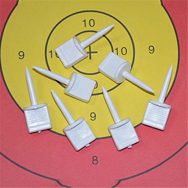 10Pcs/set Plastic Professional Outdoor Archery Hunting Shooting Target Nail Pin Used To Fixed Target Paper Camping Accessory 30