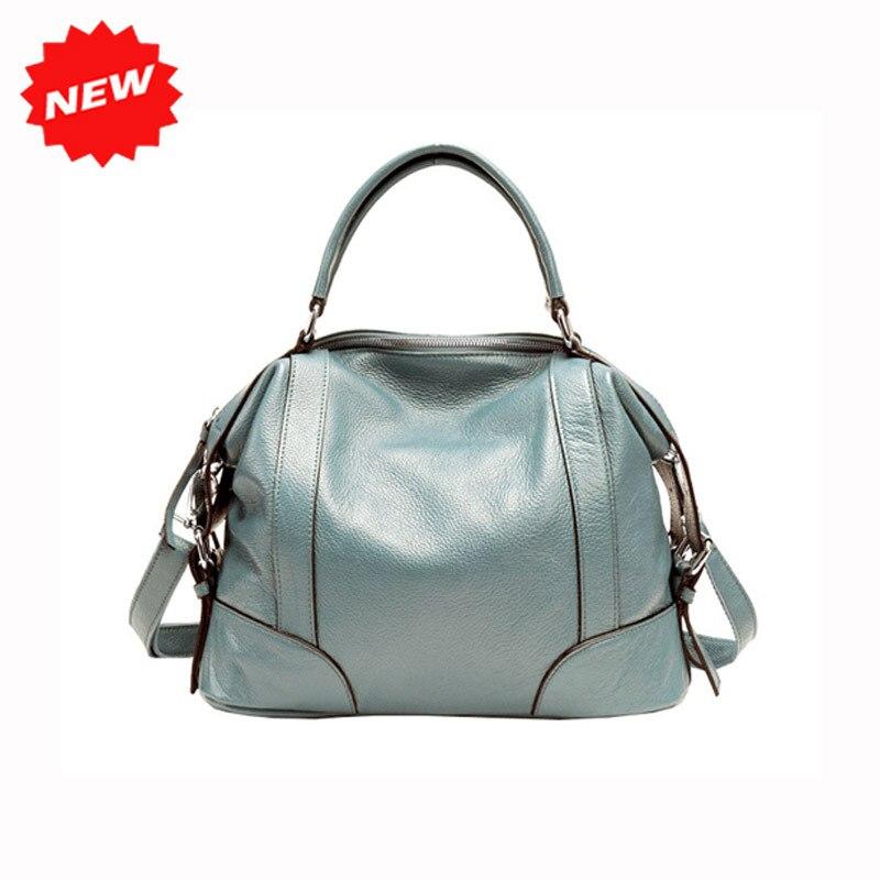 2 Sizes Tote Bag For Women Classic Leisure Handbag Genuine Cow Leather Female Messenger Bags Bolsa Feminina 1006