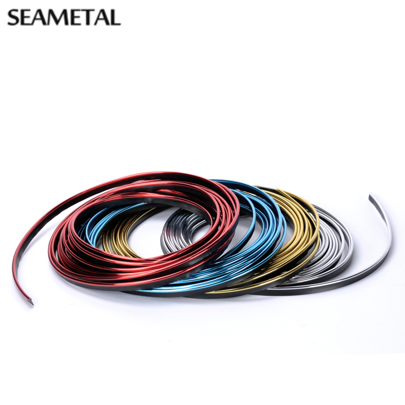 10Meters Car Sticker Decoration Strip Interior Accessories Car Stickers And Decals In Trim Thread Strips Door Auto Car-Styling executive car