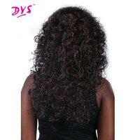 Deyngs Long Afro Kinky Curly Synthetic Wigs For Black Women Brown Color Heat Resistant Natural African
