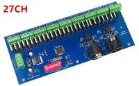 Bán buôn 27 Kênh 3A/CH 9 nhóm Dễ Dàng DMX512 LED Decoder, Bộ Điều Khiển, Dimmer, drive Cho DC12-24V LEDs RGB Dải Module Ánh Sáng