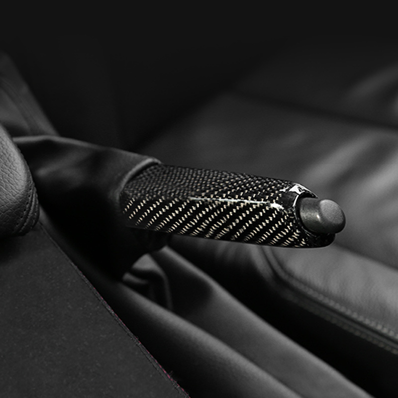 Pour Bmw E46 E90 E92 E60 E39 F30 F34 F10 F20 accessoires universel en Fiber de carbone poignées de frein à main de voiture couvercle garniture intérieure - 2