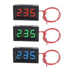 "2 Wire 0.56"" AC 30V-500V LED Digital Voltmeter Voltage Meter Monitor Tester For 110V 220V 380V D28 dropshipping(China)"