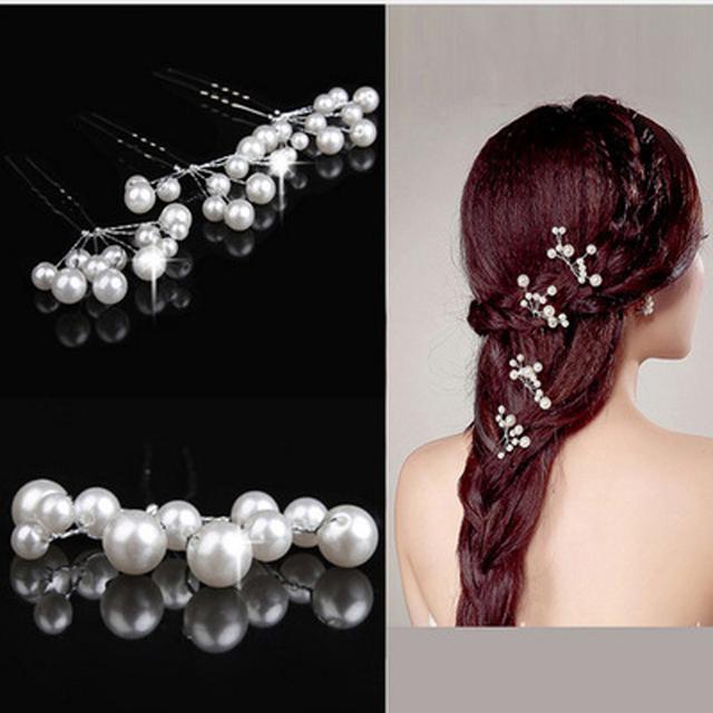 5Pcs Simulate Pearl Hairpins