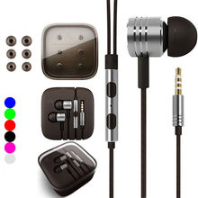Headphone with Microphone for XIAOMI Piston 2 II Classic Mi Headset Earphone Mic Stereo Earbud 3.5mm Jack Earpiece for Samsung
