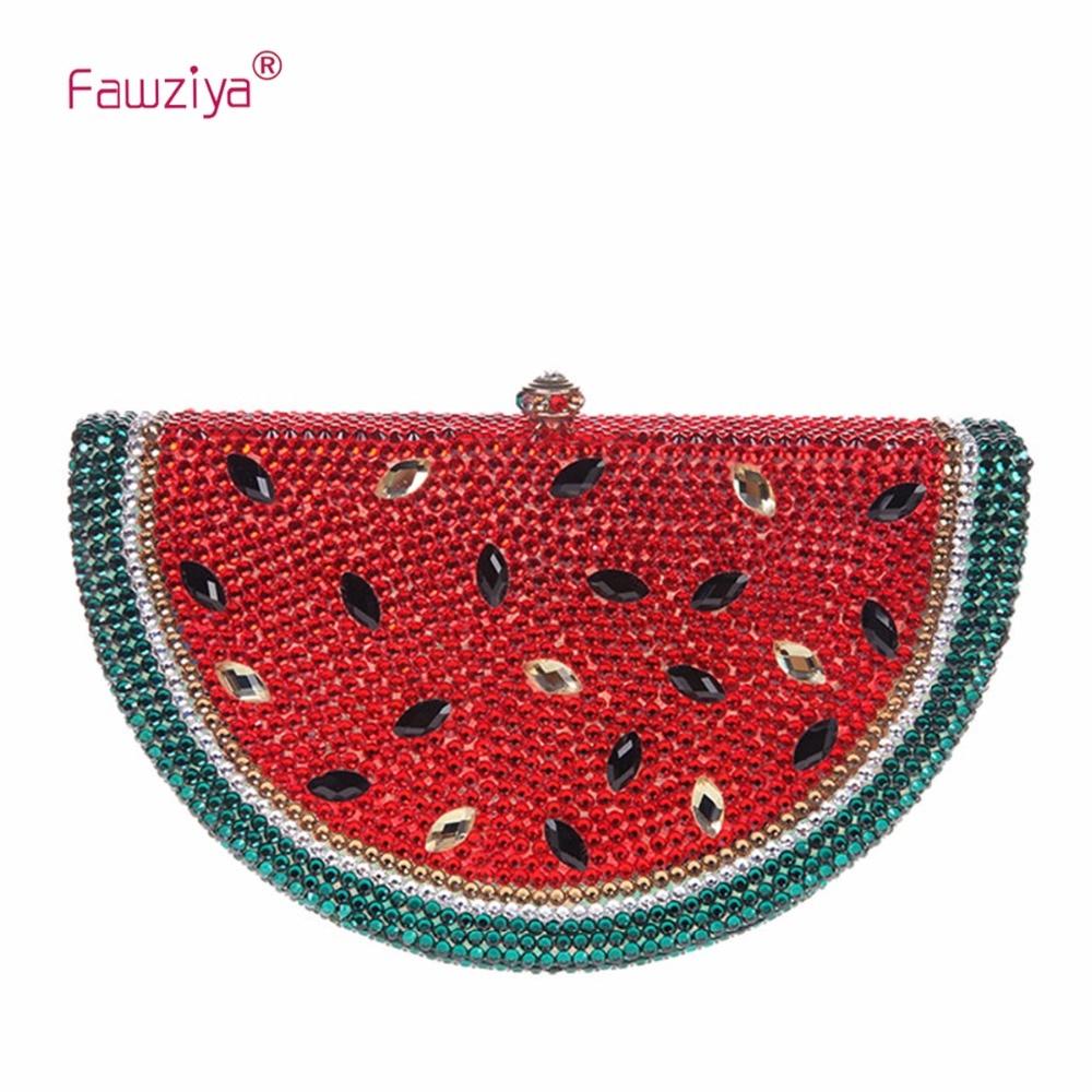 Fawziya Rhinestone Watermelon Purses And Handbags For Womens Clutch Purse
